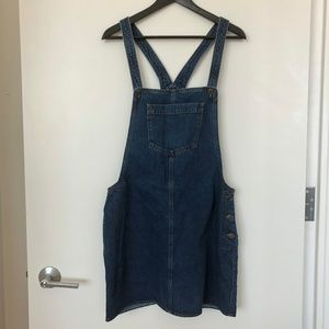 TOPSHOP Denim MOTO Strap Skirt